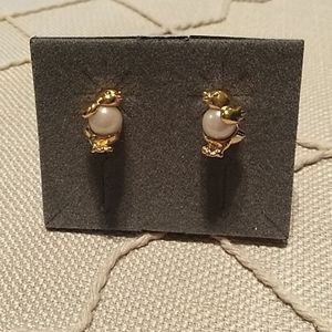 Vintage Pearly Chick Earrings